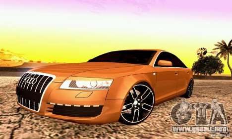 Audi A6 Blackstar para GTA San Andreas left