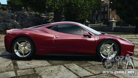 Ferrari 458 Italia 2010 v2.0 para GTA 4 left