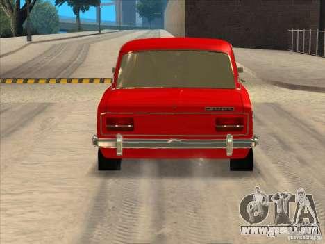 Estilo Resto VAZ 2103 para GTA San Andreas vista posterior izquierda