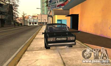 LADA 2107 Turbo para GTA San Andreas left