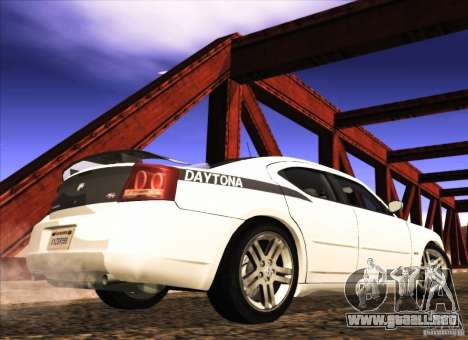 Dodge Charger R/T Daytona para GTA San Andreas vista posterior izquierda