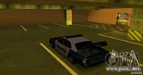 Merit Police Version 2 para GTA San Andreas vista hacia atrás