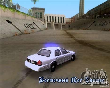 Ford Crown Victoria 2009 Detective para la vista superior GTA San Andreas