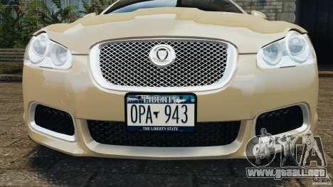 Jaguar XFR 2010 v2.0 para GTA 4 ruedas