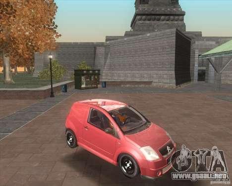 Citroen C2 workers car para visión interna GTA San Andreas