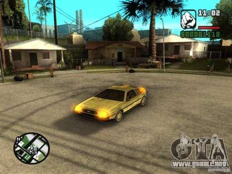 Golden DeLorean DMC-12 para GTA San Andreas left