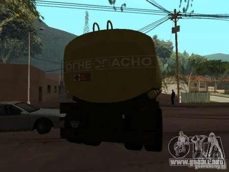 tanque de PPC para GTA San Andreas vista posterior izquierda