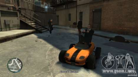 Banshee Go Kart para GTA 4 Vista posterior izquierda