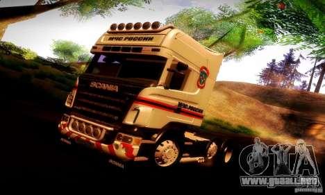 Scania R620 Emercom de Rusia para GTA San Andreas interior