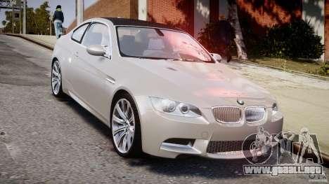 BMW M3 E92 para GTA 4 vista hacia atrás