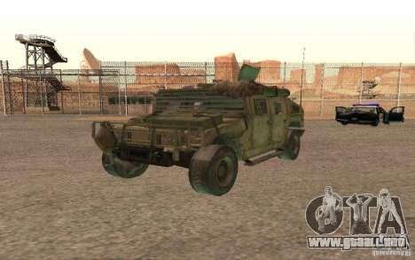 Hummer Spec Ops The Line para visión interna GTA San Andreas