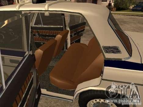 Policía VAZ 2103 para GTA San Andreas vista hacia atrás