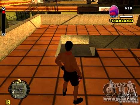 Hombre piel playa para GTA San Andreas segunda pantalla