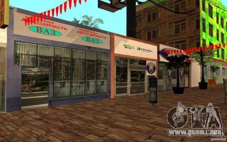 Calle playa nueva para GTA San Andreas segunda pantalla