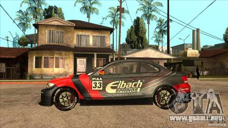 BMW 135i Coupe GP Edition Skin 2 para GTA San Andreas left