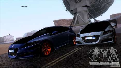 Honda CR-Z Mugen 2011 V1.0 para vista lateral GTA San Andreas