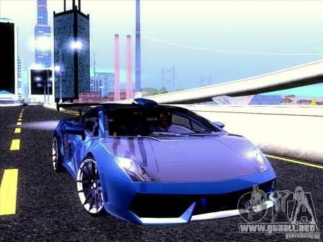 Lamborghini Gallardo Racing Street para visión interna GTA San Andreas