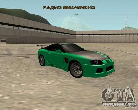 Toyota Supra ZIP style para vista lateral GTA San Andreas