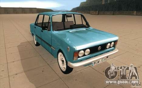 Fiat 125p para GTA San Andreas vista hacia atrás