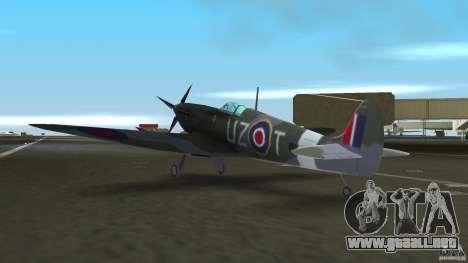 Spitfire Mk IX para GTA Vice City vista posterior