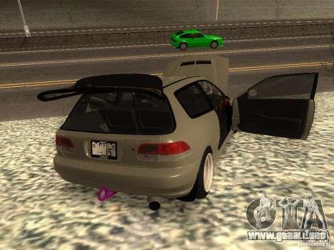 Honda Civic EG6 JDM para GTA San Andreas vista posterior izquierda
