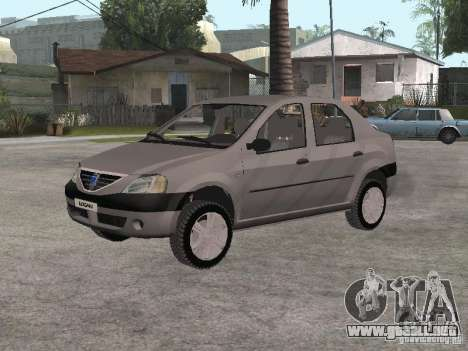 Dacia Logan 1.6 para GTA San Andreas left