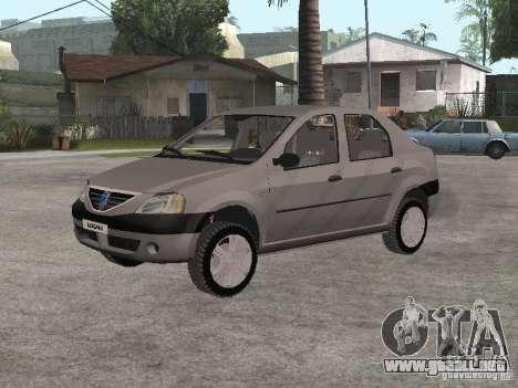 Dacia Logan 1.6 para GTA San Andreas left