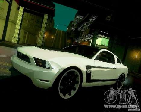 Ford Mustang Boss 302 2011 para visión interna GTA San Andreas