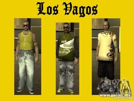 Pieles de banda Vagos para GTA San Andreas