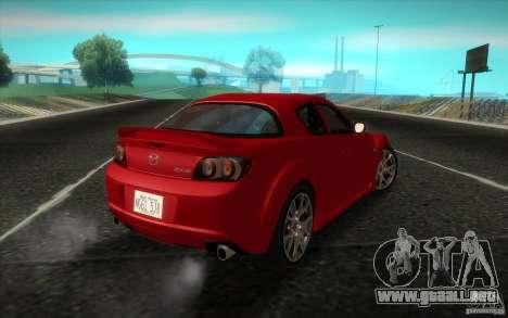 Mazda RX-8 R3 2011 para GTA San Andreas left
