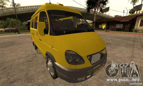 Minibús Gazelle 32213 Novosibirsk para GTA San Andreas