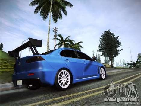 Mitsubishi Lancer Evolution Drift Edition para GTA San Andreas left