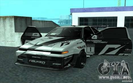 Toyota Corolla AE86 Shift 2 para GTA San Andreas vista hacia atrás