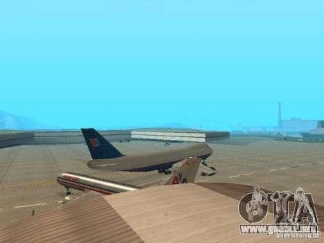 Boeing 747-100 United Airlines para la visión correcta GTA San Andreas