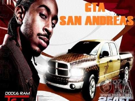Pantallas de carga para GTA San Andreas segunda pantalla