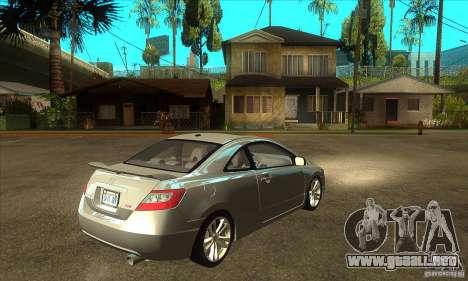 Honda Civic Si - Stock para la visión correcta GTA San Andreas
