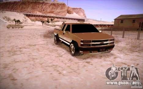 Chevrolet Silverado 3500 para GTA San Andreas left