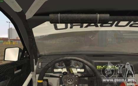 Subaru Impreza WRX Gymkhana2 Beta para la visión correcta GTA San Andreas