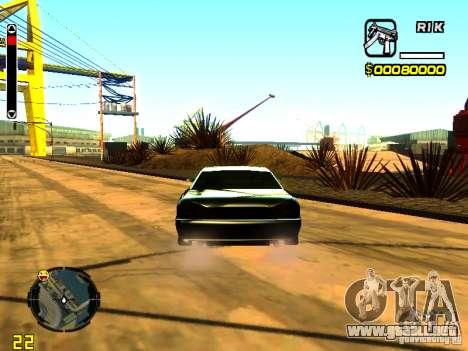 New Elegy v1 para GTA San Andreas vista posterior izquierda