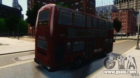 London City Bus para GTA 4 Vista posterior izquierda