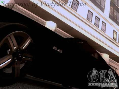 Ford Mustang GT 2011 Unmarked para visión interna GTA San Andreas