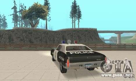 Chevrolet Monte Carlo 1970 Police para GTA San Andreas left