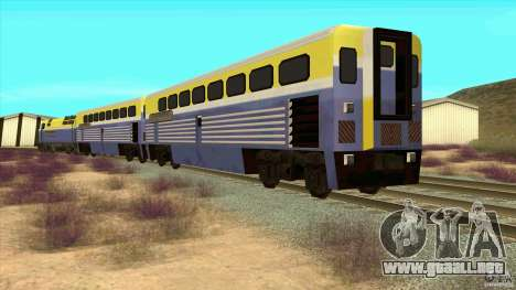 Latvian Train para GTA San Andreas vista posterior izquierda