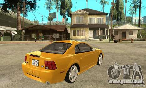 Ford Mustang GT 1999 - Stock para la visión correcta GTA San Andreas