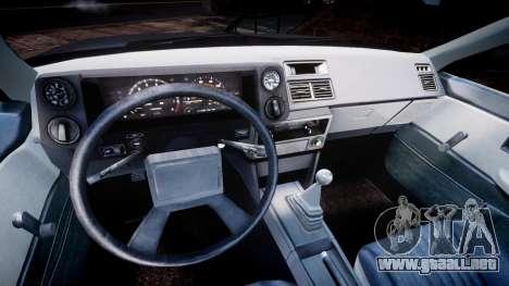 Toyota Sprinter Trueno 1986 para GTA 4 vista hacia atrás