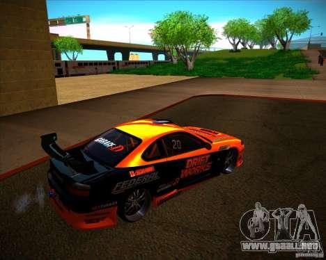 Nissan Silvia S15 Drift Works para la visión correcta GTA San Andreas