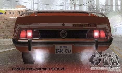 Ford Mustang Mach1 1973 para el motor de GTA San Andreas