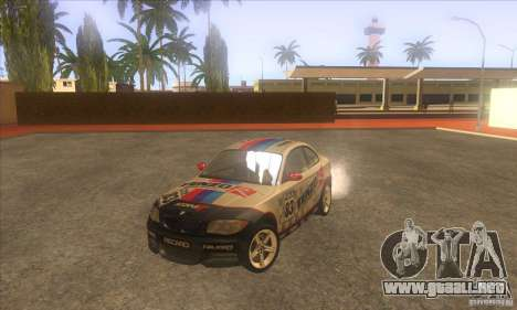 BMW 135i (E82) para vista lateral GTA San Andreas