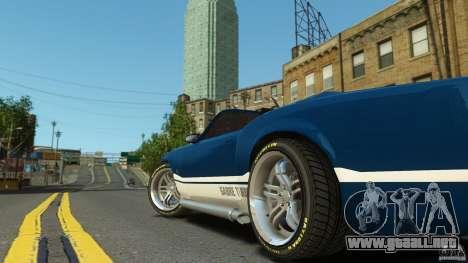 Sabre GT II Vinyl Roof para GTA 4 Vista posterior izquierda