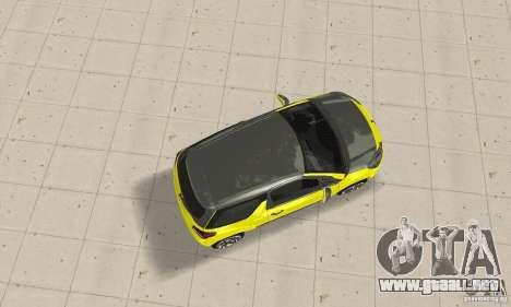 Citroen Ds3 Sport 2011 para GTA San Andreas vista posterior izquierda